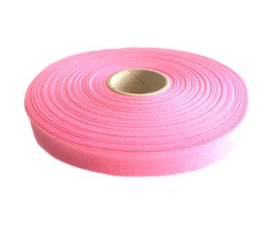 Косая бейка, хлопок, 40/20 мм розовый цв.