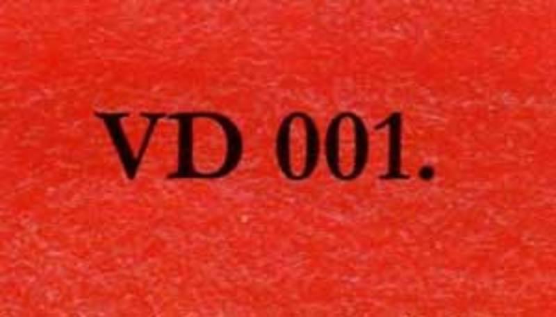 VD001.0 Войлок свалянный иглой, красный, 100% шерсть, высота 5мм, ширина 65см., дл.рулона 5