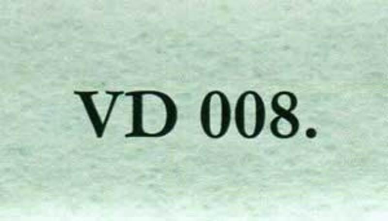 VD008.0 Войлок свалянный иглой, ментол, 100% шерсть, высота 5мм, ширина 65см., дл.рулона 5 м