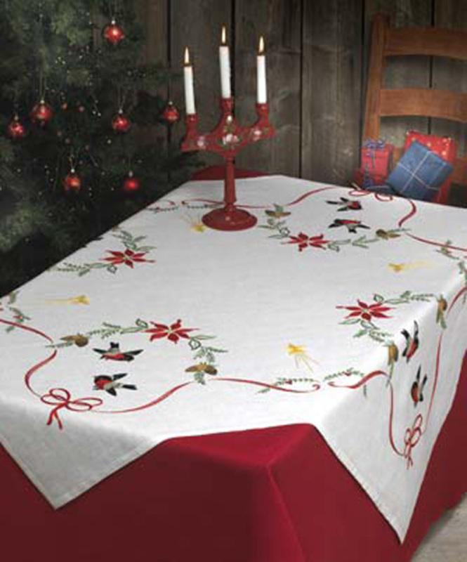 """Набор для вышивания Anchor: скатерть """"Bullfifinch Tablecloth"""""""