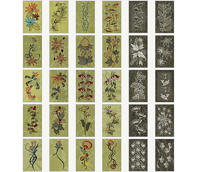 CD с дизайнами Husqvarna 249: Mega Endless Floral