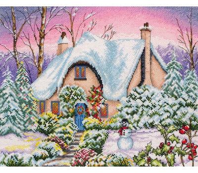 """Набор для вышивания Anchor """"Snow Cottage"""" 25*31см"""