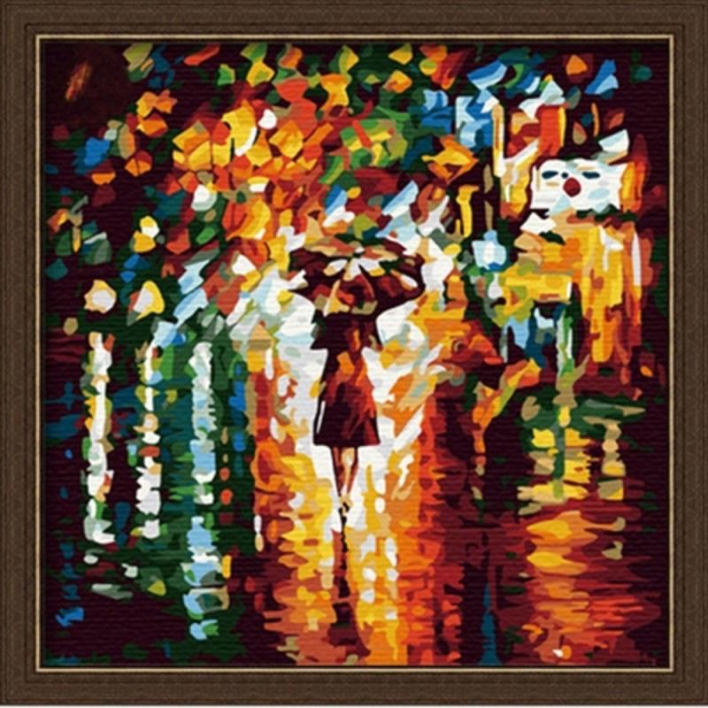 В дождь - Картина со стразами