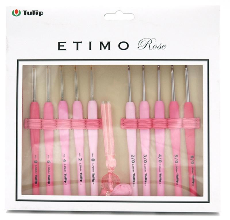 """TEL-001e Набор сверхтонких крючков для вязания """"ETIMO Rose"""""""