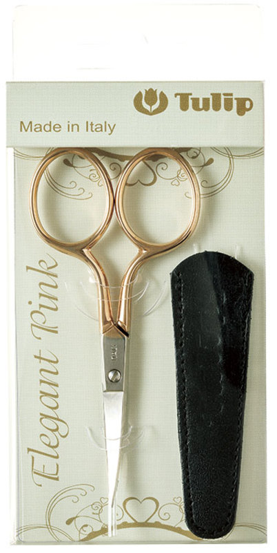 "TIC-001e Ножницы с изогнутыми лезвиями ""Elegantly Pink"""