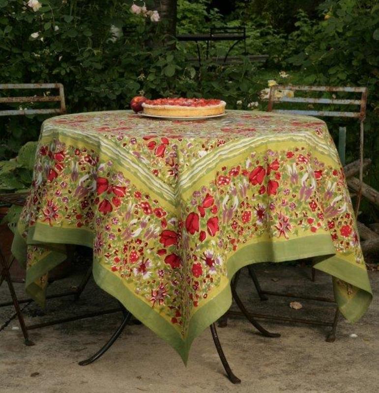 """Скатерть """"Garden green-rouge"""""""