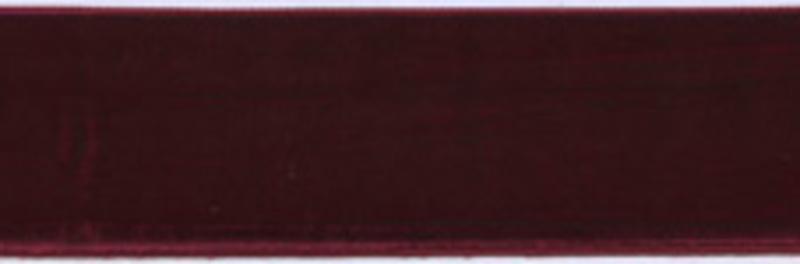 Лента бархатная, 39 мм, бордо