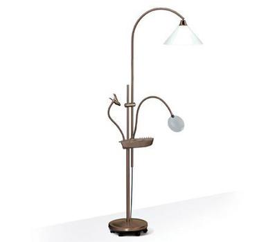 Напольная лампа-торшер E21098 c лупой и держателем образцов