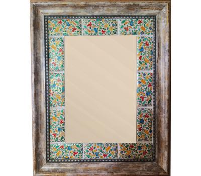 Зеркало с ручной росписью в багете