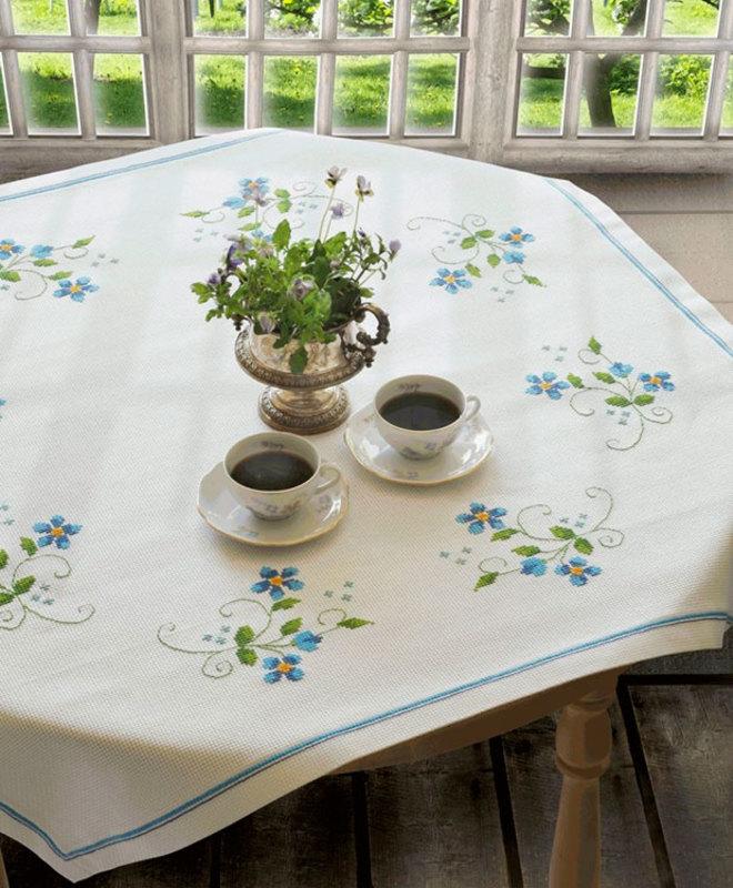 """Набор для вышивания Anchor """"Blue Flower Tablecloth"""""""