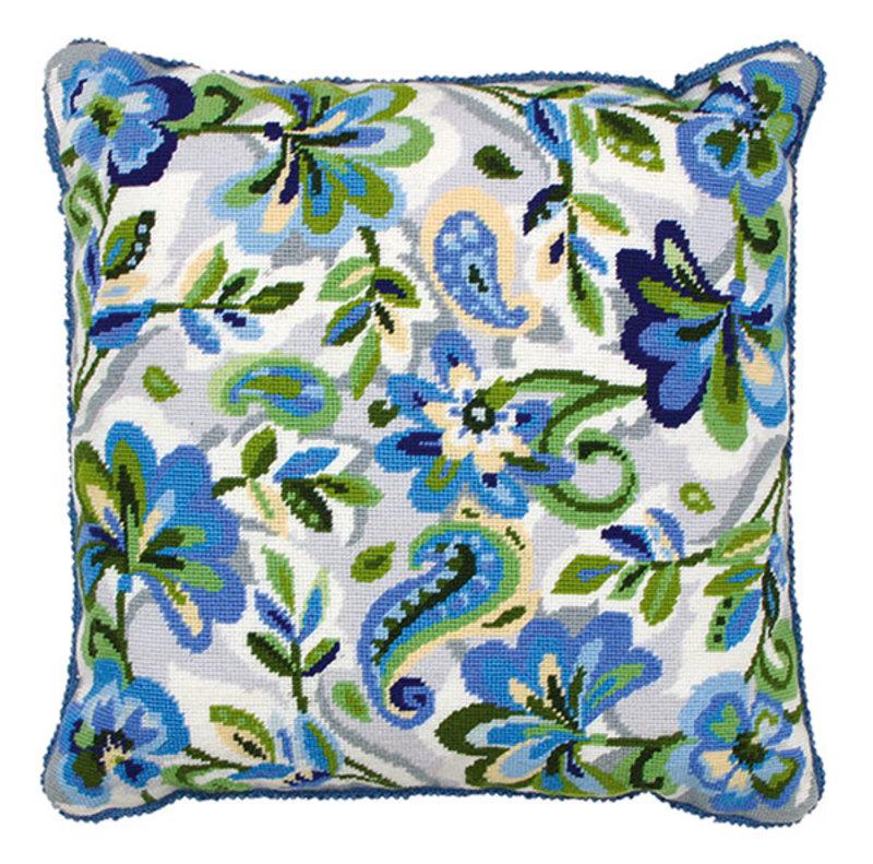 """Набор для вышивания Anchor: наволочка """"Paisley Floral In Blue"""""""