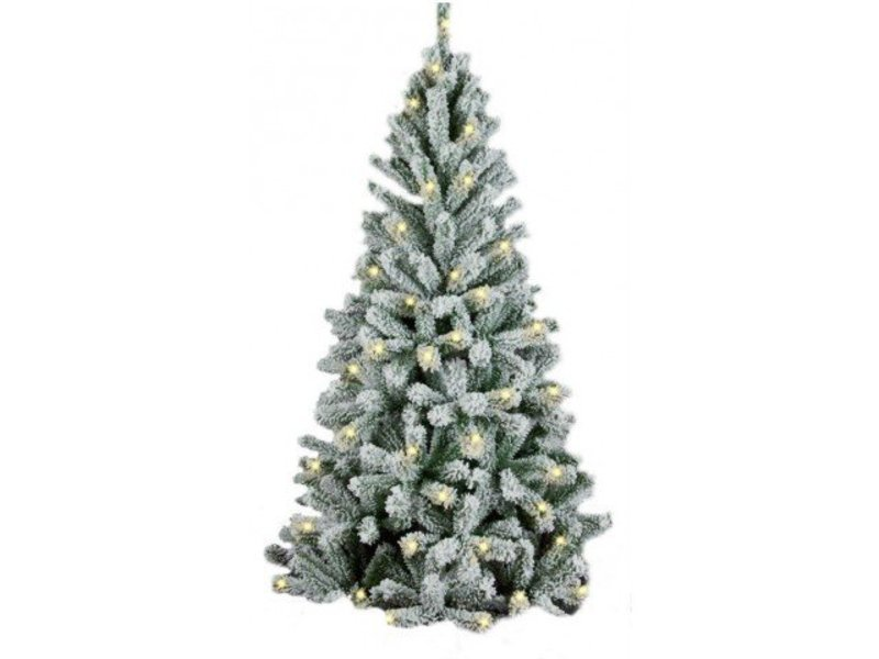 ЕЛЬ ROYAL CHRISTMAS FLOCK TREE PROMO WARM LED ЗАСНЕЖЕННАЯ (180см)
