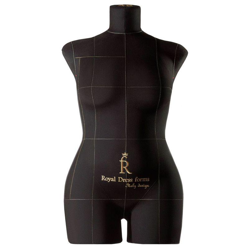 Манекен женский мягкий портновский Monica, размер 48, чёрный