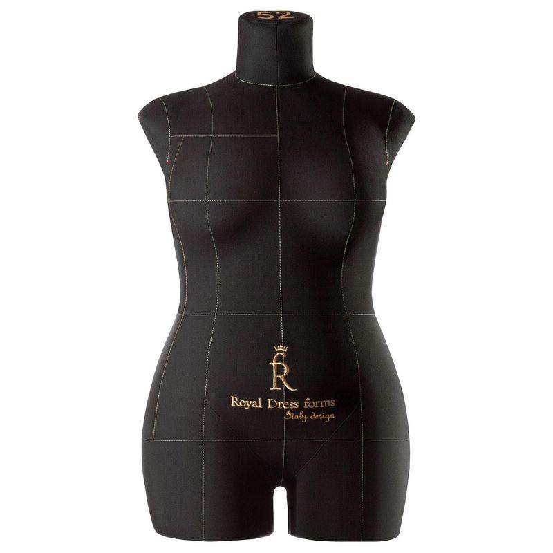 Манекен женский мягкий портновский Monica, размер 52, чёрный