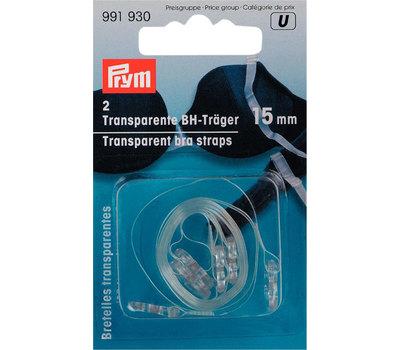 Прозрачные лямки для бюстгальтера-съемные, 10мм, 100%полиуретан, 2шт на блистере