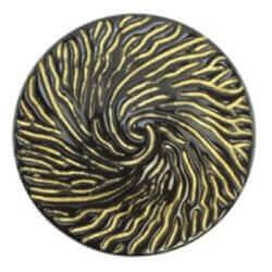 Пуговица на ножке с золотыми прожилками