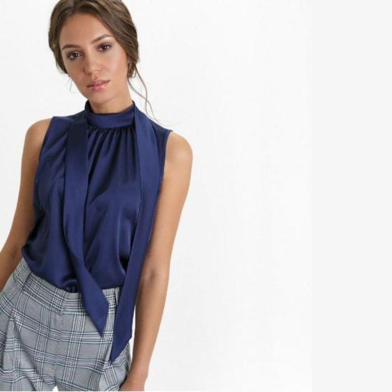 Выкройка блузка-топ без рукавов