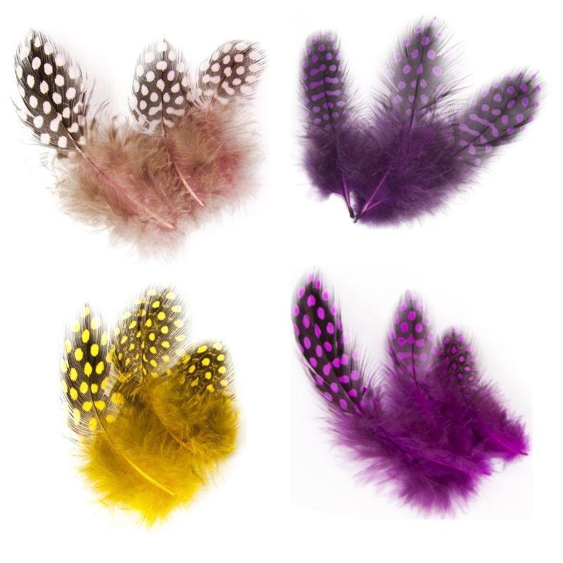 Цветные декоративные перья, набор 20 шт. 5-12 см.