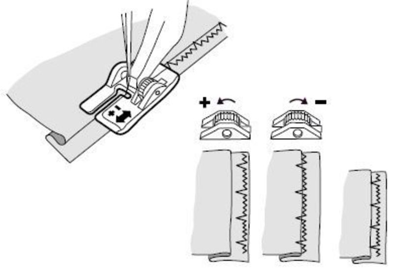 Регулируемая лапка для невидимой подгибки