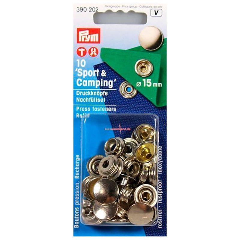 """Пополняемая упаковка для кнопок """"Спорт и Кэмпинг"""" к артикулу 390201, диаметр 15мм, Prym, 390202"""