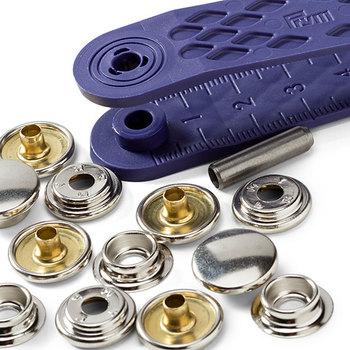 """Кнопки """"Яхта и Караван"""", диаметр 15мм, латунь/сталь, серебристый, 10шт в упаковке, Prym, 390211"""